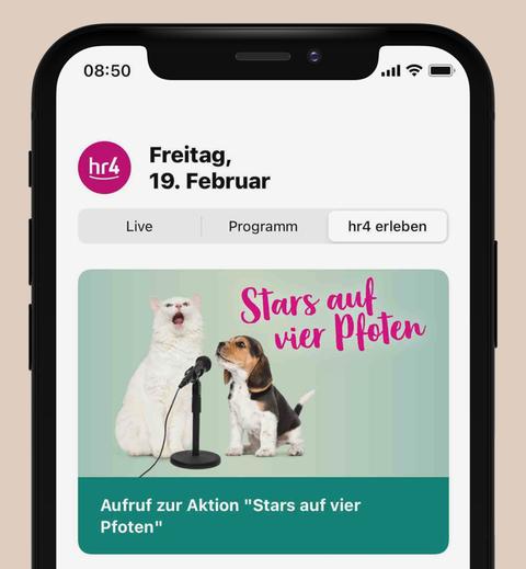 """Der Bereich """"hr4 erleben"""" in der neuen App"""