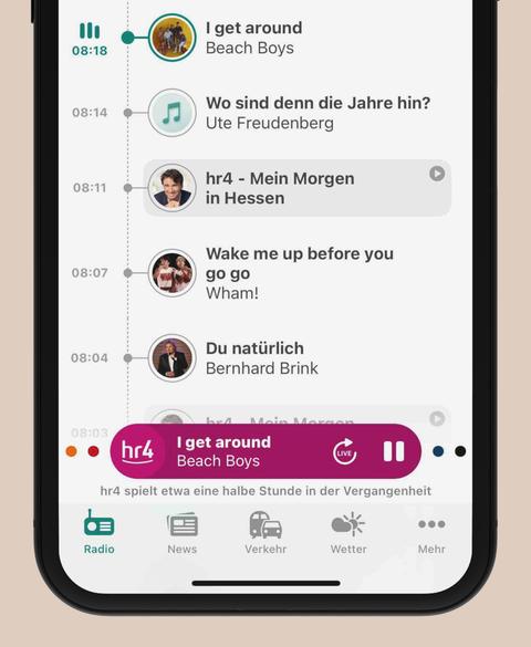 Timeline in der hr4-App