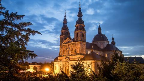 Der Fuldaer Dom im Abendlicht