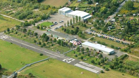 Luftaufnahme des Alten Flugplatz'