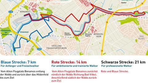 hr4-Walkingtag - die Strecken