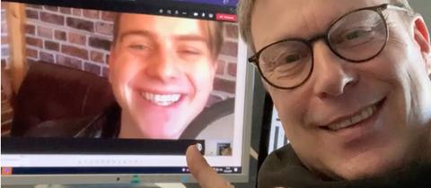Interview als Videokonferenz: Jens Schulenburg und Vincent Gross