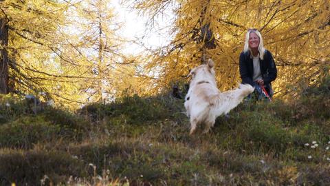Britta Lohmann mit Hund Boomer
