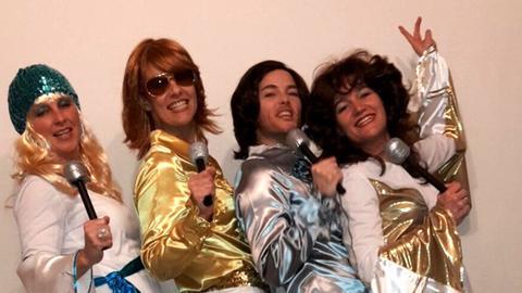 """Susanne Geyer und drei Freundinnen als """"ABBA"""""""