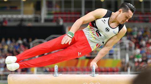 Andreas Toba bei den Olympischen Spielen in Rio 2016 am Pauschenpferd