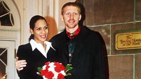 Boris Becker und Barbara Feltus bei der Hochzeit