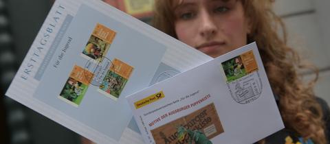 Einige Figuren der Augsburger Puppenkiste jetzt auch auf Briefmarken