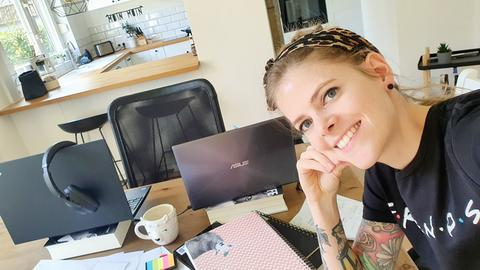 Nina Thöne im Home-Office