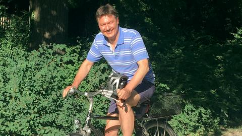 Dieter auf dem GrünGürtel Frankfurt