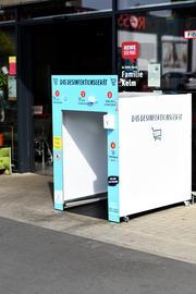 Einkaufswagen-Desinfektionsanlage