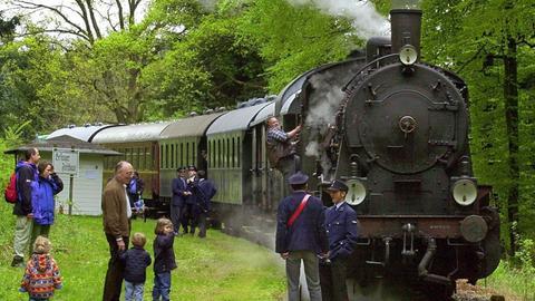 Historischer Zug im Eisenbahnmuseum Darmstadt-Kranichstein