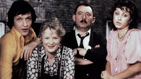 Diether Krebs als Schwiegersohn Michael, Elisabeth Wiedemann als Ehefrau Else, Heinz Schubert als Alfred Tetzlaff und Hildegard Krekel als Tochter Rita.