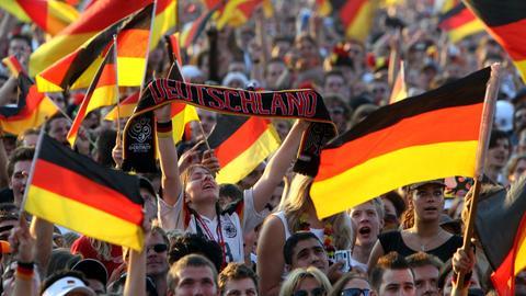 Deutschland-Fans feiern