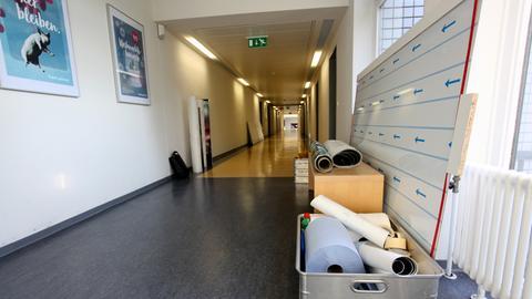 Neuer Flur für das hr4-Studio in Kassel