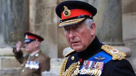 Thronfolger in Großbritannien: Prinz Charles in militärischer Uniform