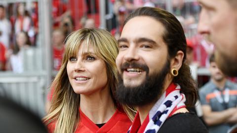 Heidi Klum und Tom Kaulitz vor dem Spiel in München