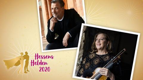 Kathy Kelly und Marc Marshall im Helden-Livestream