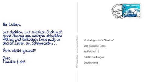 Marcel Kahl aus Kaufungen dankt der Notbetreuung der Kita in Kaufungen