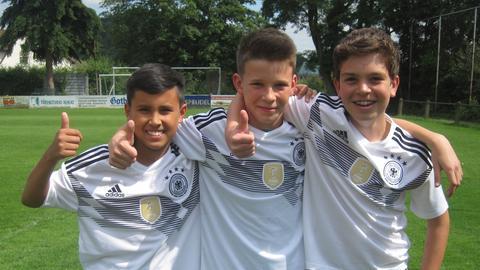 hr4-WM-Experten Cian, Fabian und Aaron