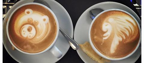 """Kaffeekunst von Sascha Jockovic aus dem """"Milch und Zucker"""" in Frankfurt"""
