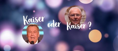 Roland Kaiser und Franz Beckenbauer