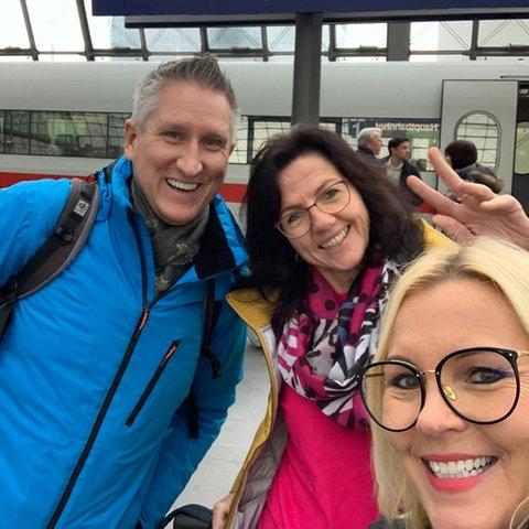 Marion Ulrich, Enrico und Britta Wiegand in Berlin