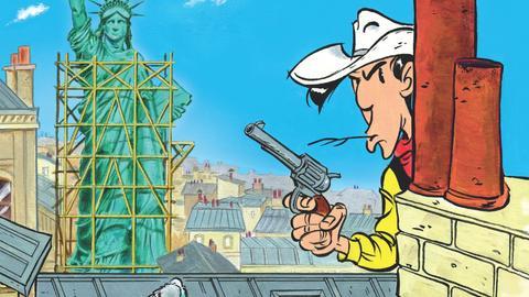 Lucky Luke in Paris - Cover des aktuellen Hefts