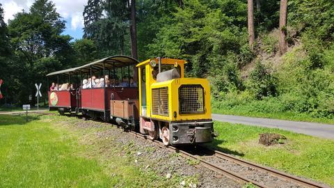 Die Moorbahn in Bad Schwalbach unterwegs