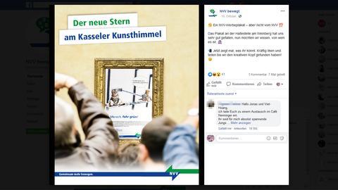 Der NVV sucht auf seiner Facebook-Seite nach den Urhebern dieses Plakats.