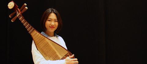 Lucy Zhao mit ihrer Pipa