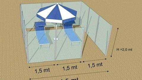 Entwürfe für Plexiglas-Kabinen aus Italien