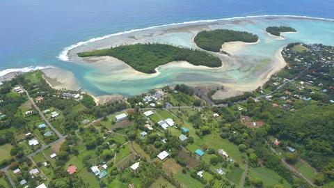 Blick auf die Muri Lagune auf der Insel Rarotonga