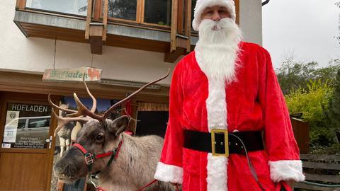 Weihnachtsfeiern mit Rentieren