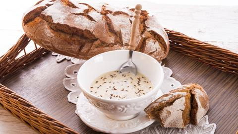 Kochkäse und Brot