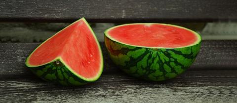 Aufgeschnittene Melone