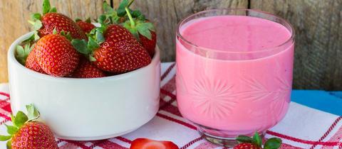 Erdbeer-Milch-Shake