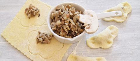 Ravioli mit Pilzen