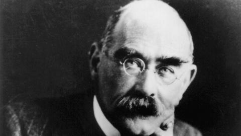 """Porträt von Joseph Rudyard Kipling, dem Autor des """"Dschungelbuch"""""""
