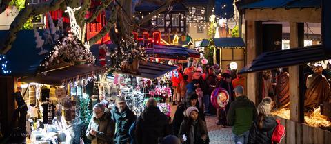 Weihnachtsmarkt in Rüdesheim am Rhein