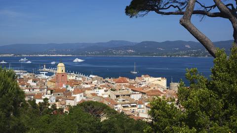 Blick auf die Altstadt von St. Tropez