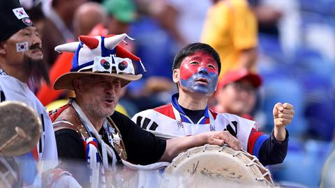 Südkoreanische Fans
