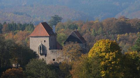 Blick auf die Tannenburg bei Nentershausen