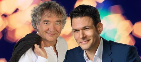 Moderatoren Gerd Freymann und Roland Boros (von links)