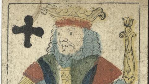 Historische Spielkarte Kreuz-König