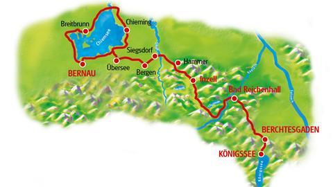 Karte Chiemsee - Königssee