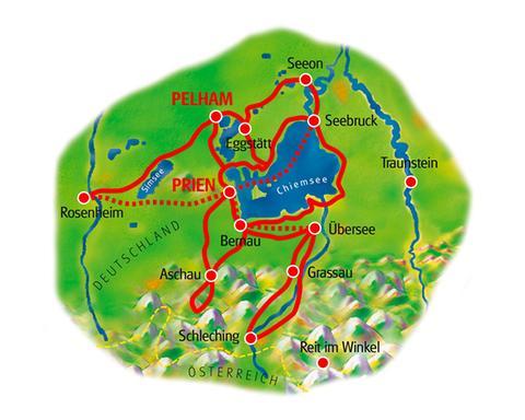 Karte Sternfahrt Chiemsee