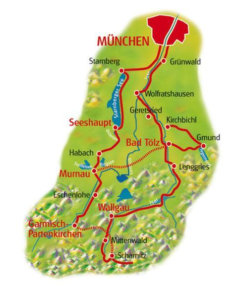 Karte Münchner Seenrunde