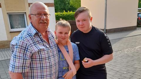 Werner Mann mit Lukas und Milan