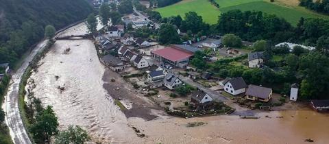 Hochwasser in Schuld