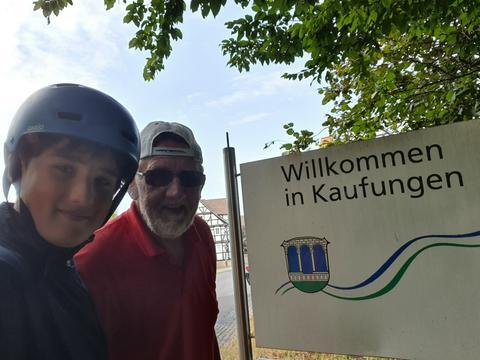 Opa Kurt Gerwig und Enkel Mats Töpfer